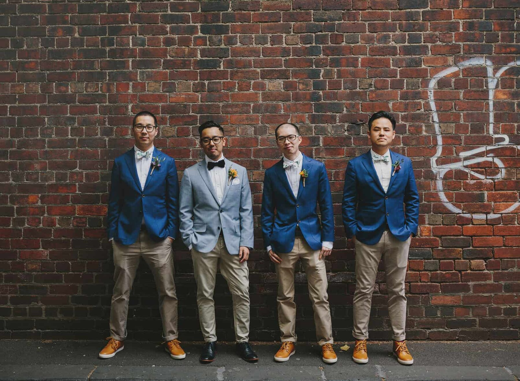 Best of 2017: Groom Style | groom and groomsmen in contrasting blues