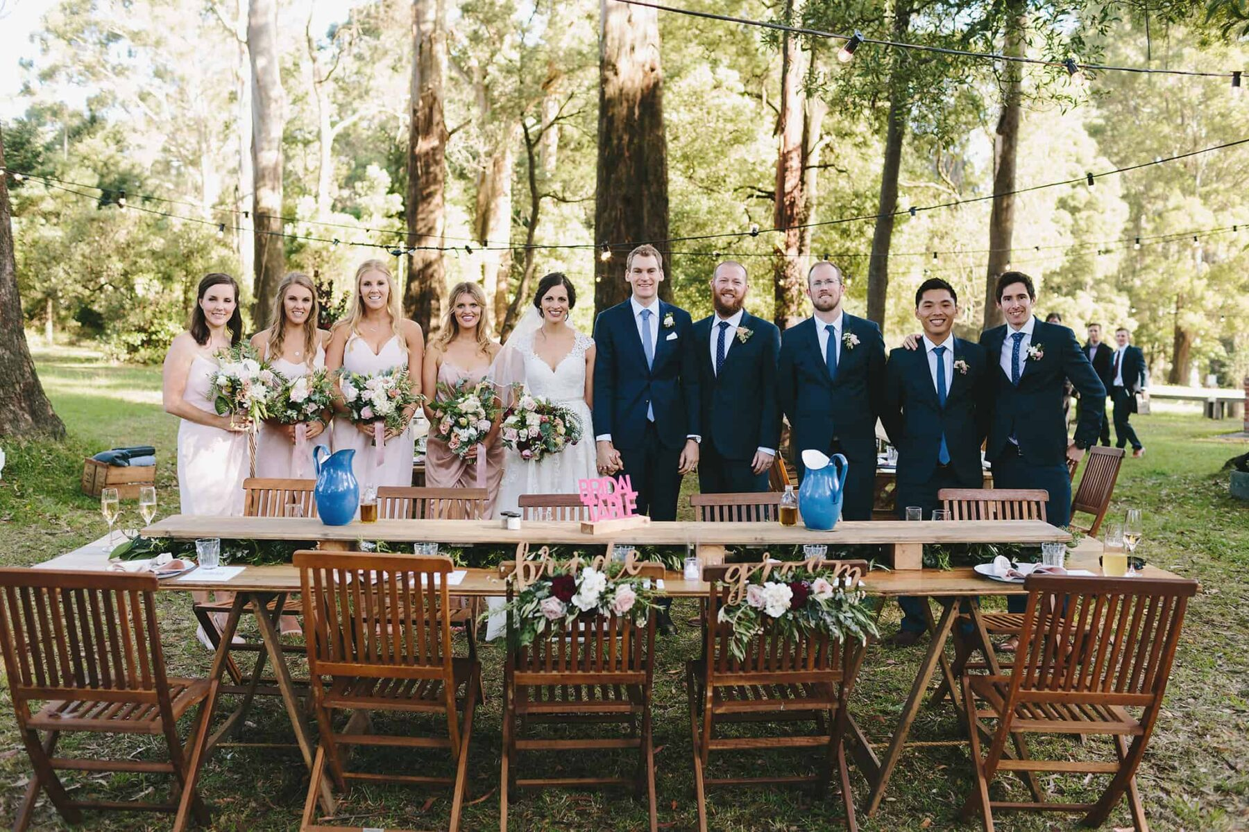 relaxed modern outdoor wedding in the Dandenong Ranges
