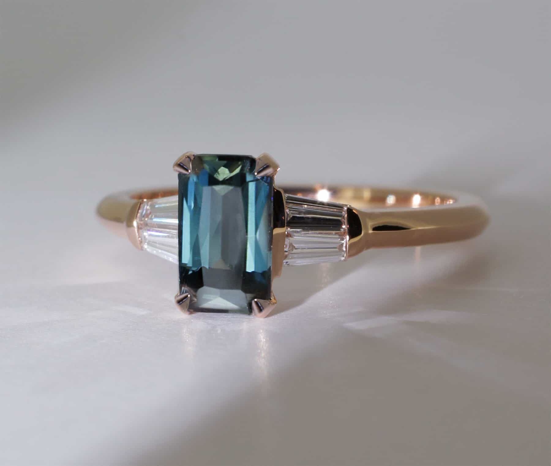 sapphire engagement ring handmade in Sydney