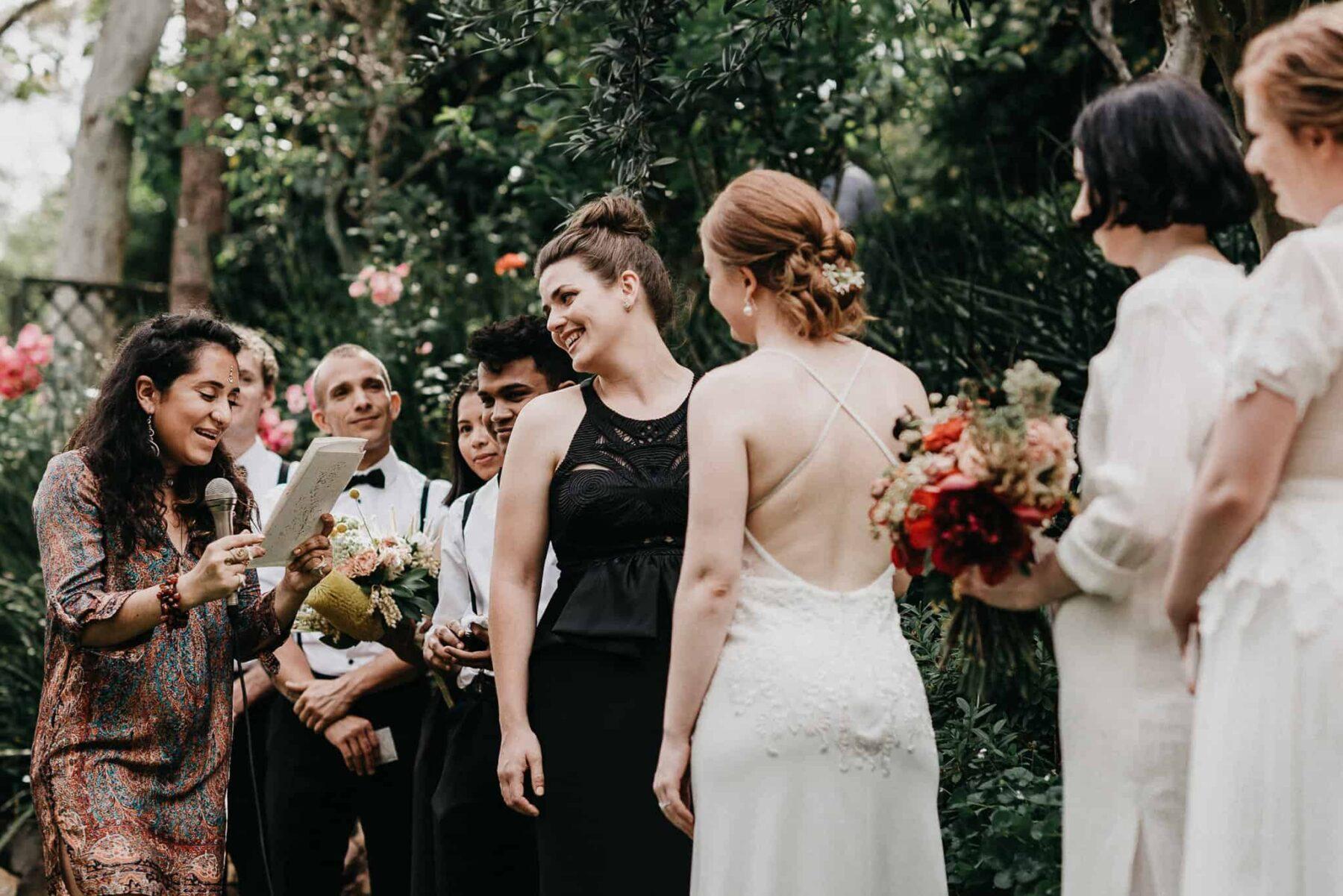 backyard garden party wedding