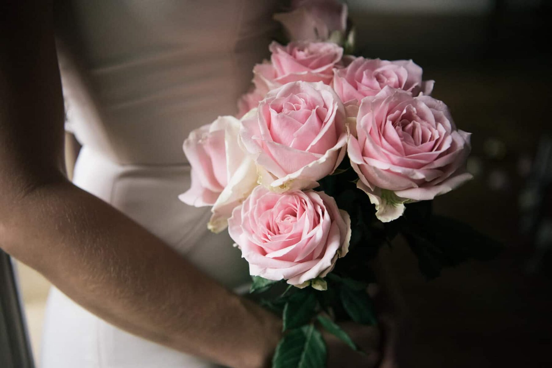 soft pink rose bouquet