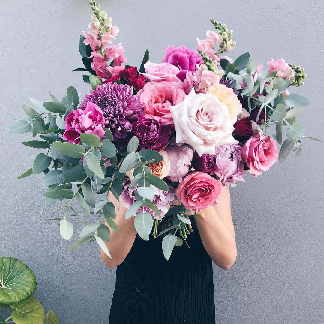 giant mixed pink bouquet