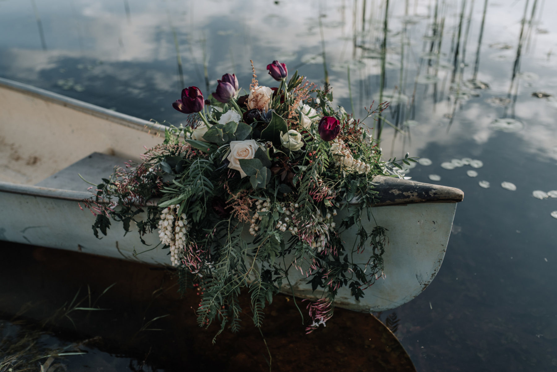 wedding canoe