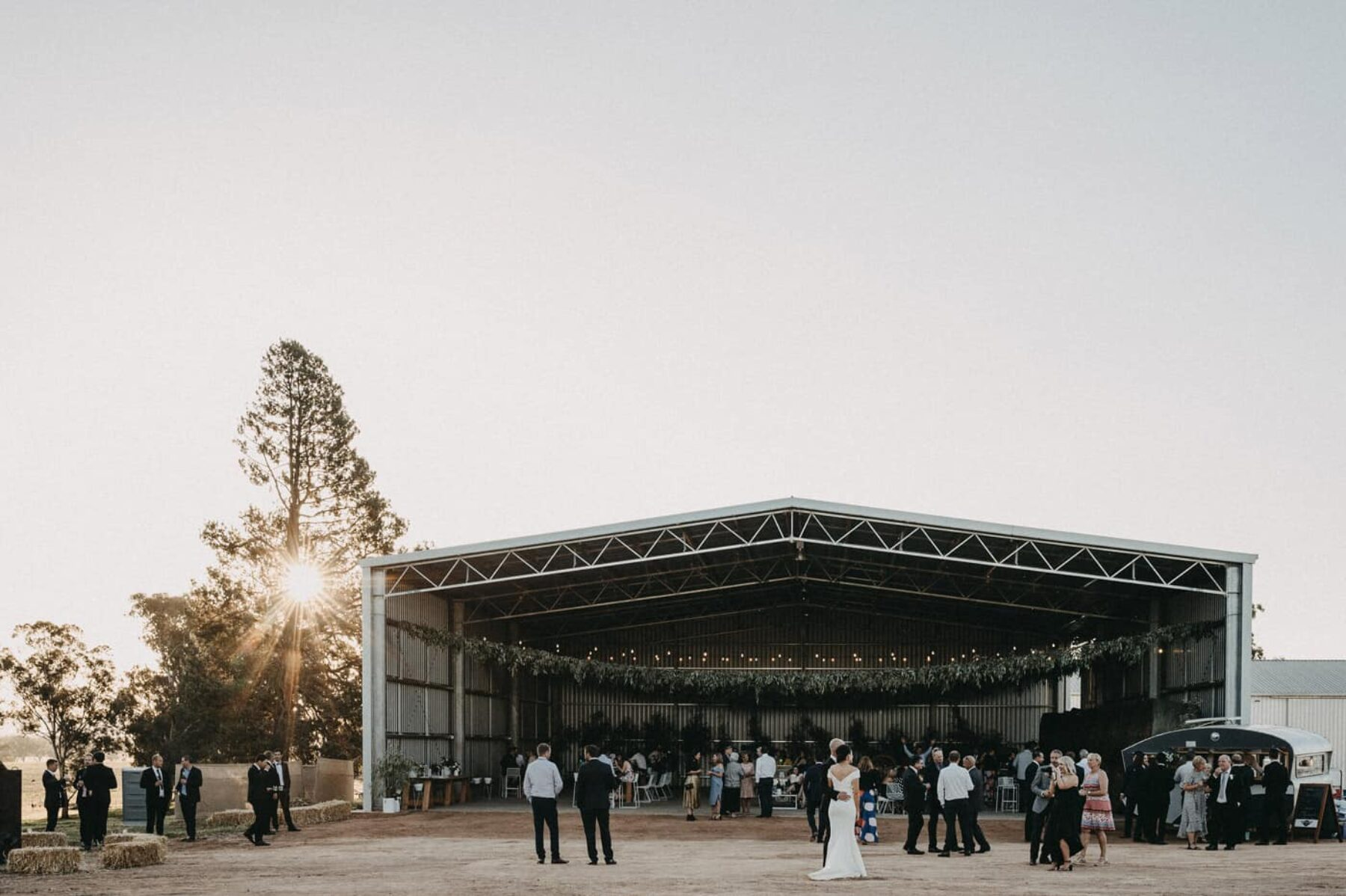 modern country wedding in a machinery shed - Lauren Campbell Photography