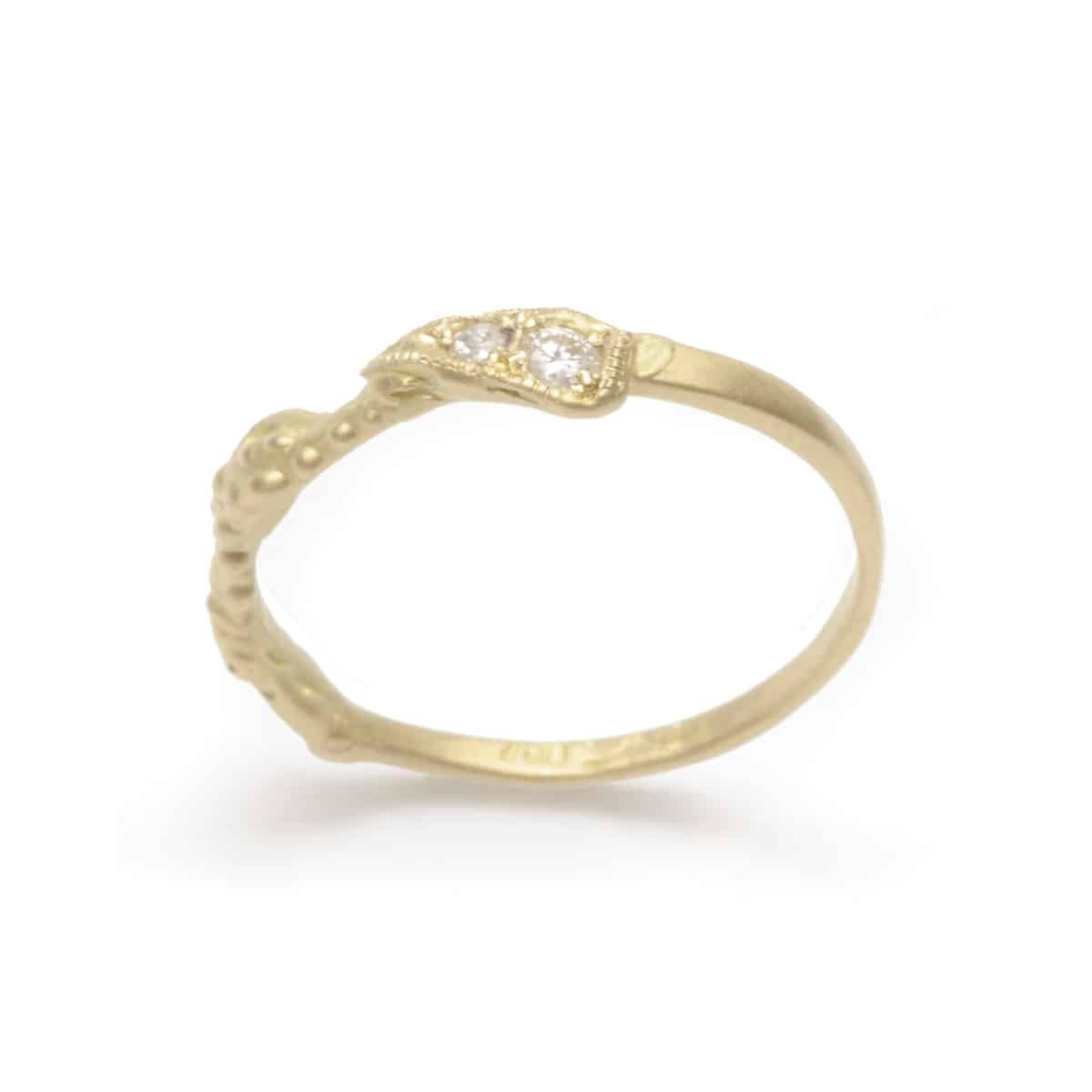 Art Deco gold diamond wedding ring by Julia Deville