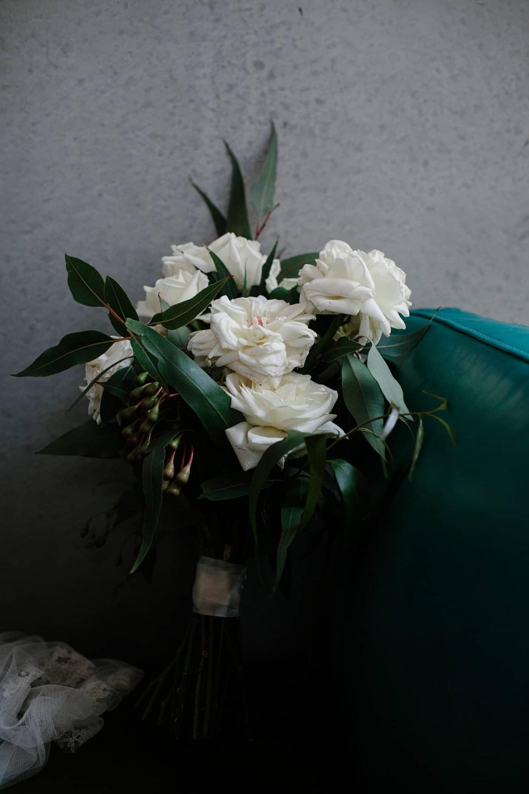 classic green and white bridal bouquet