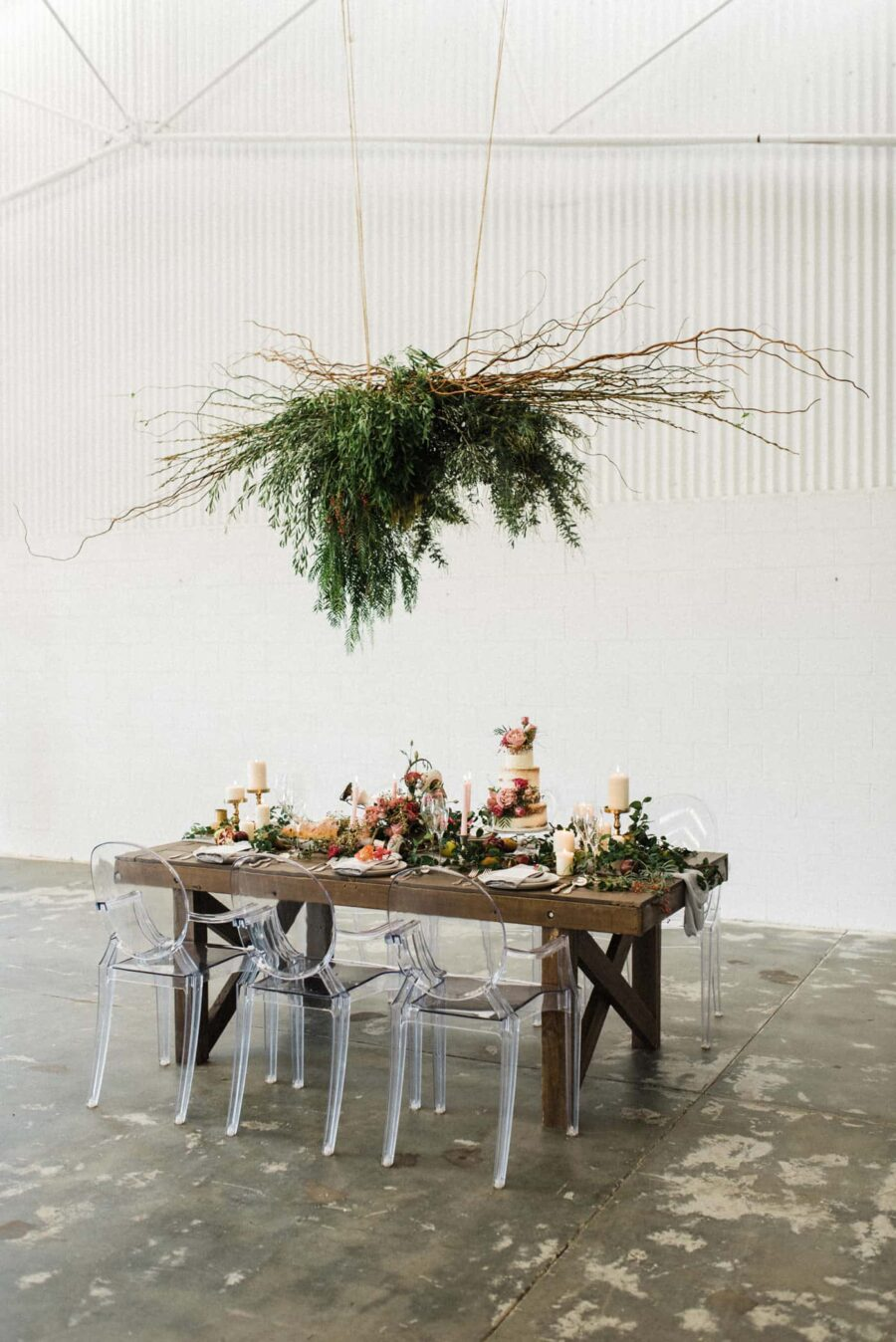 hanging foliage chandelier