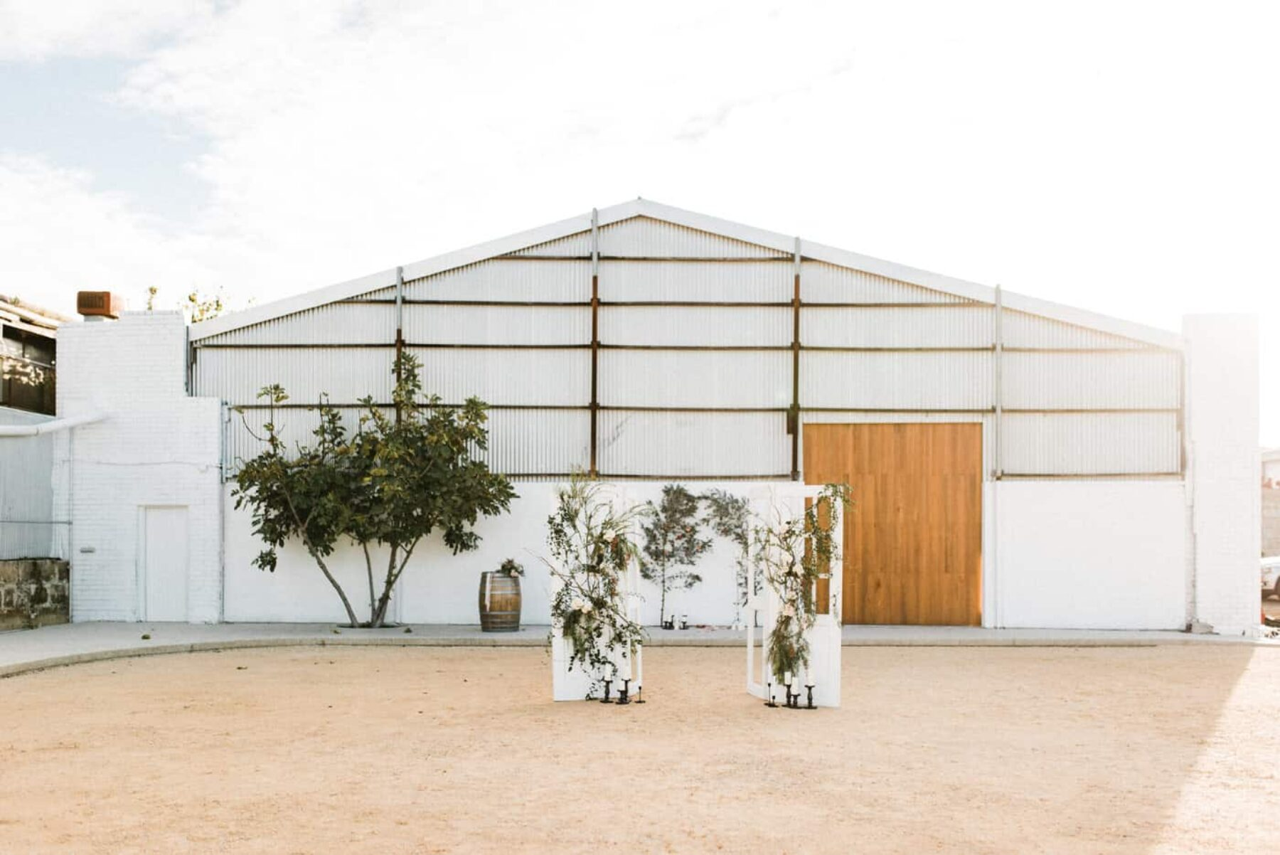 rustic wedding at the industrial Assembly Yard in Fremantle