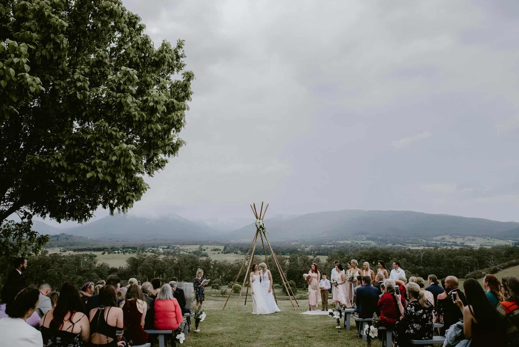same sex Yarra Valley wedding - photography by Enchanted Weddings