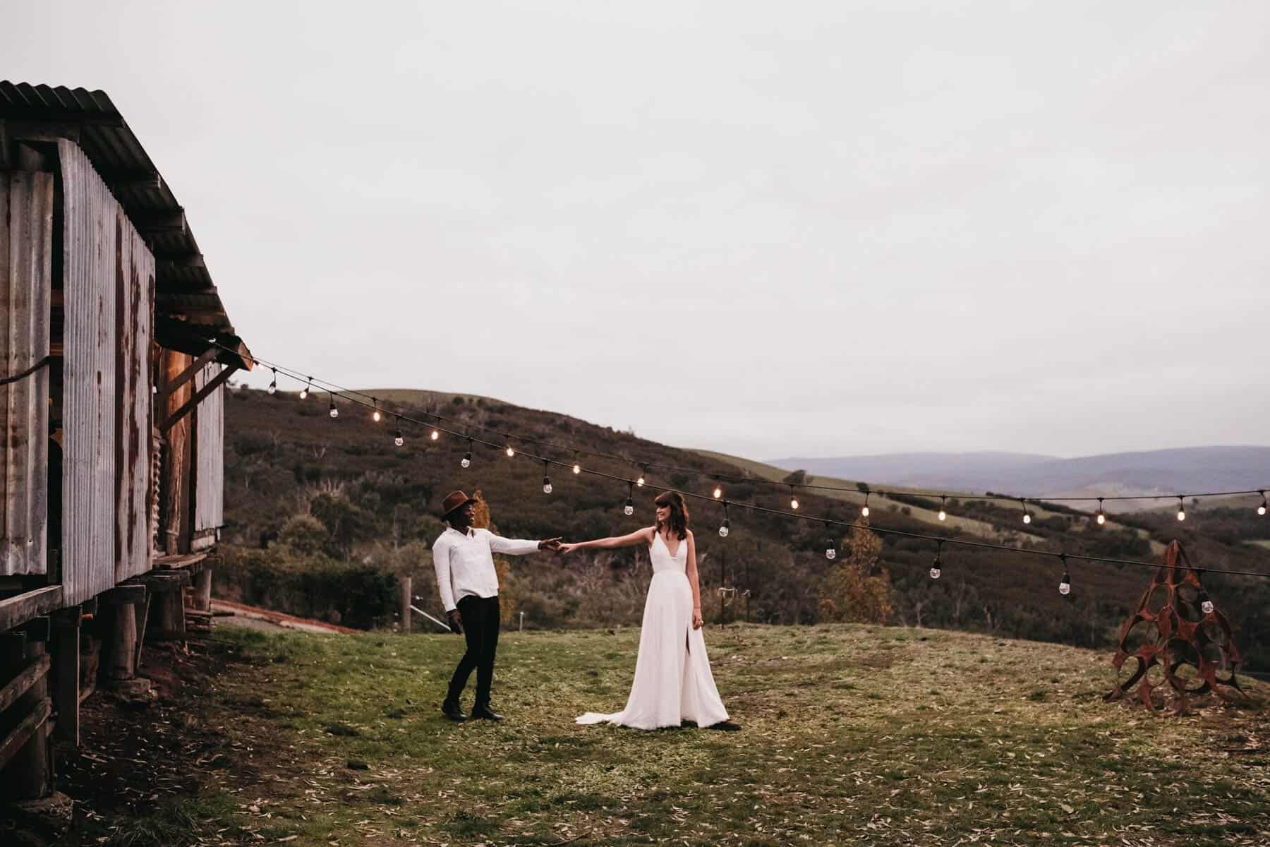 rustic Australian wedding on a shearing farm