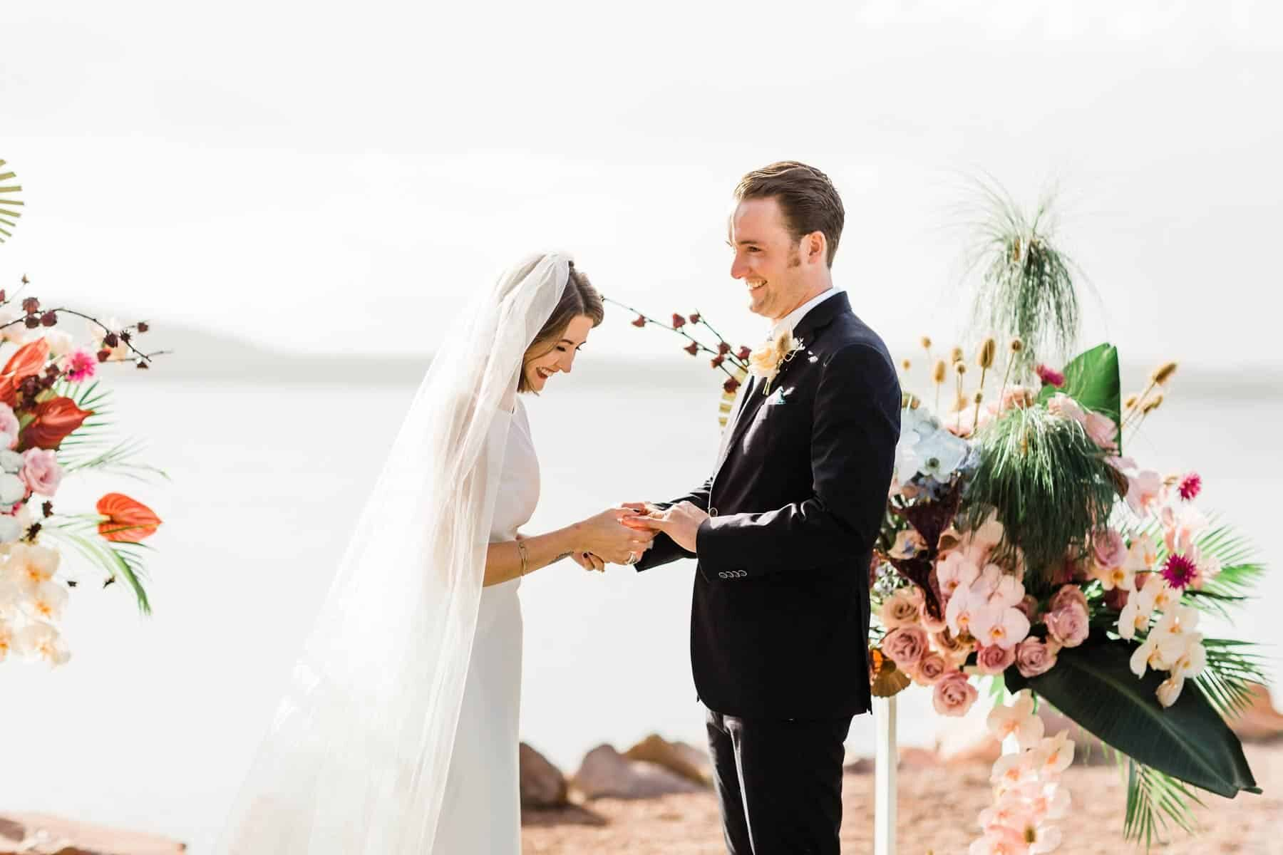Port Stephens wedding with lush tropical vibes at The Anchorage