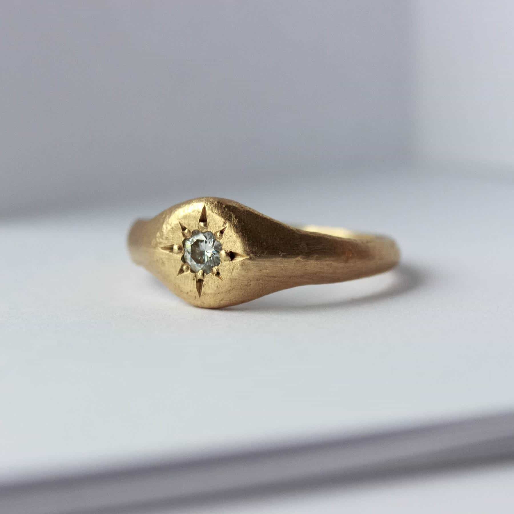 unique handmade diamond engagement ring