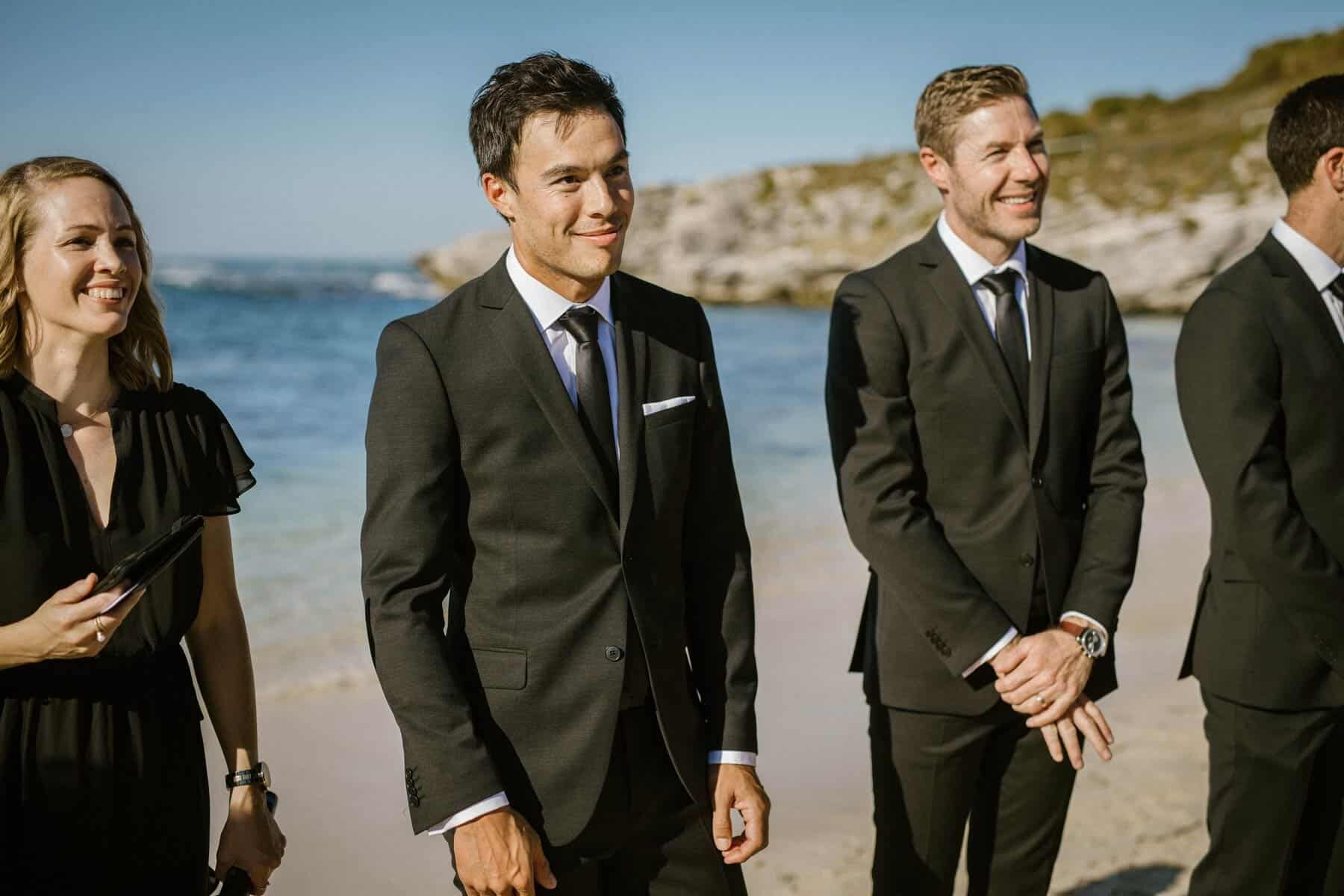 a modern beach wedding on Rottnest Island