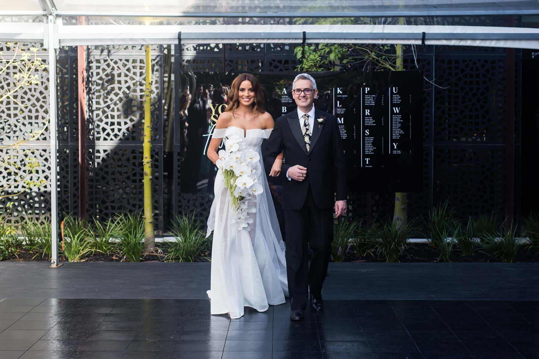 modern Melbourne wedding at St Kilda venue The Prince Hotel