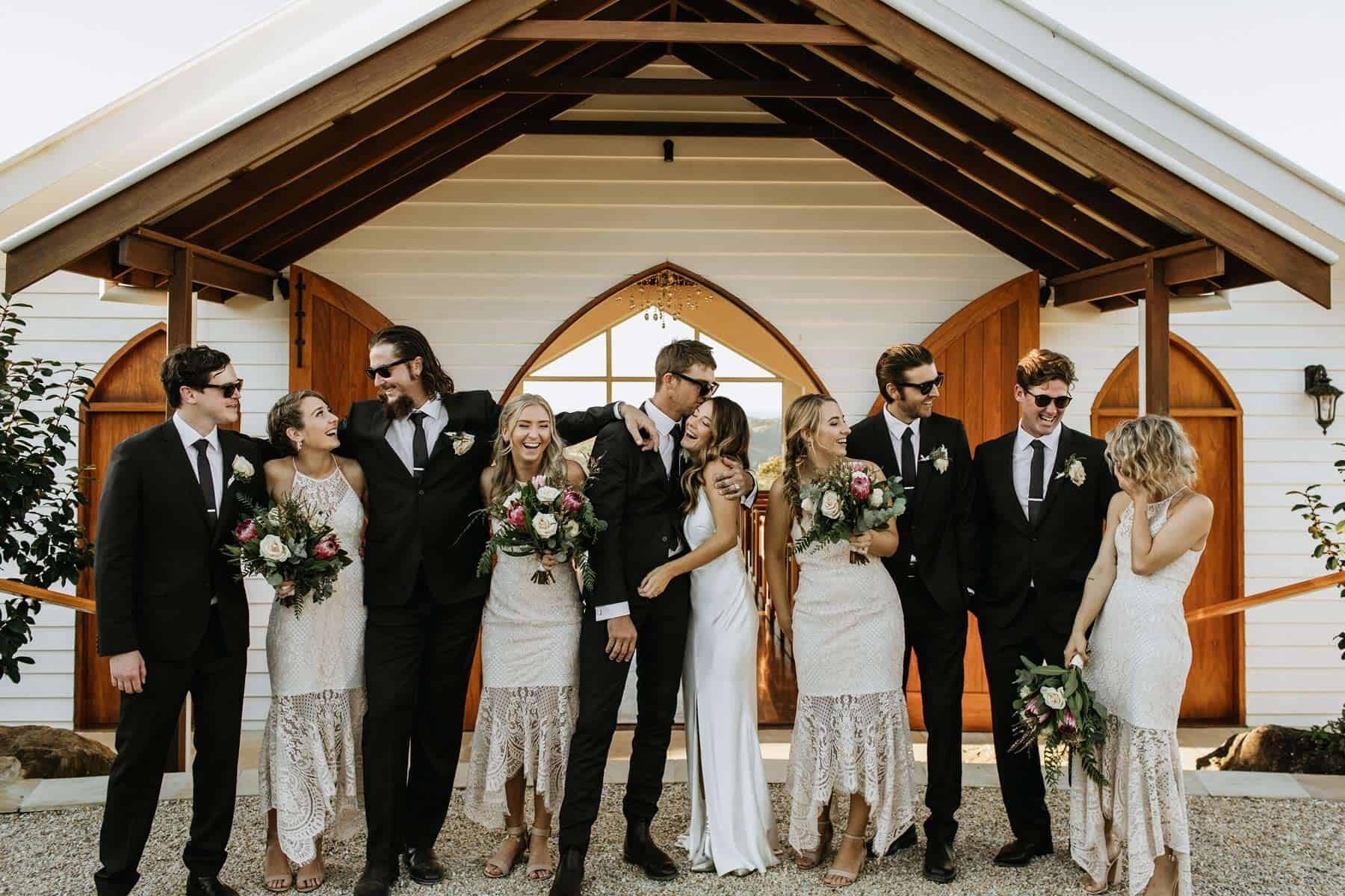modern bridal party