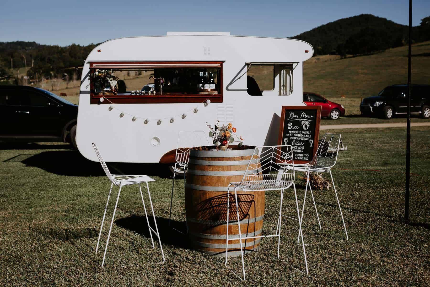 vintage caravan mobile bar