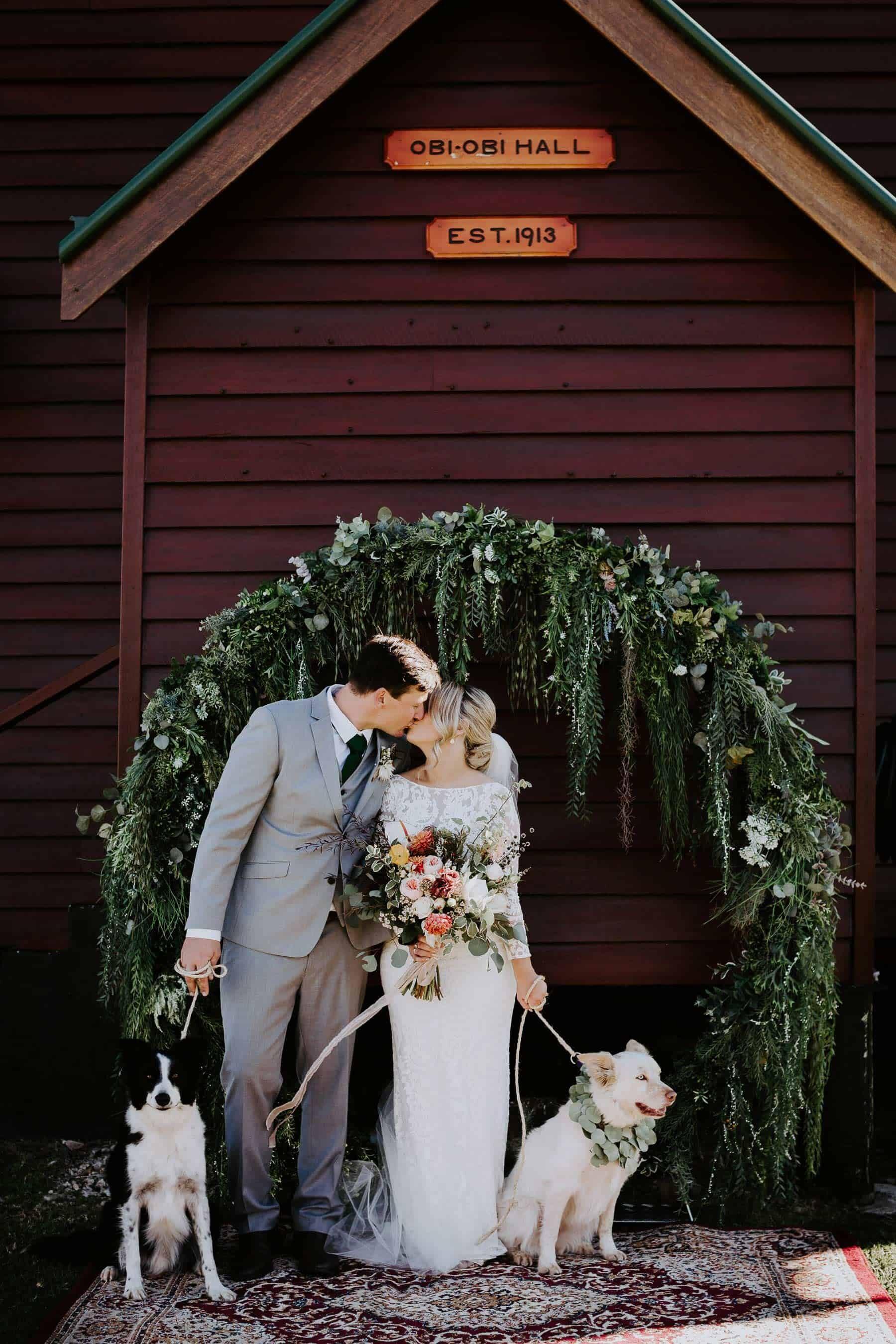 foliage circle wedding arbour