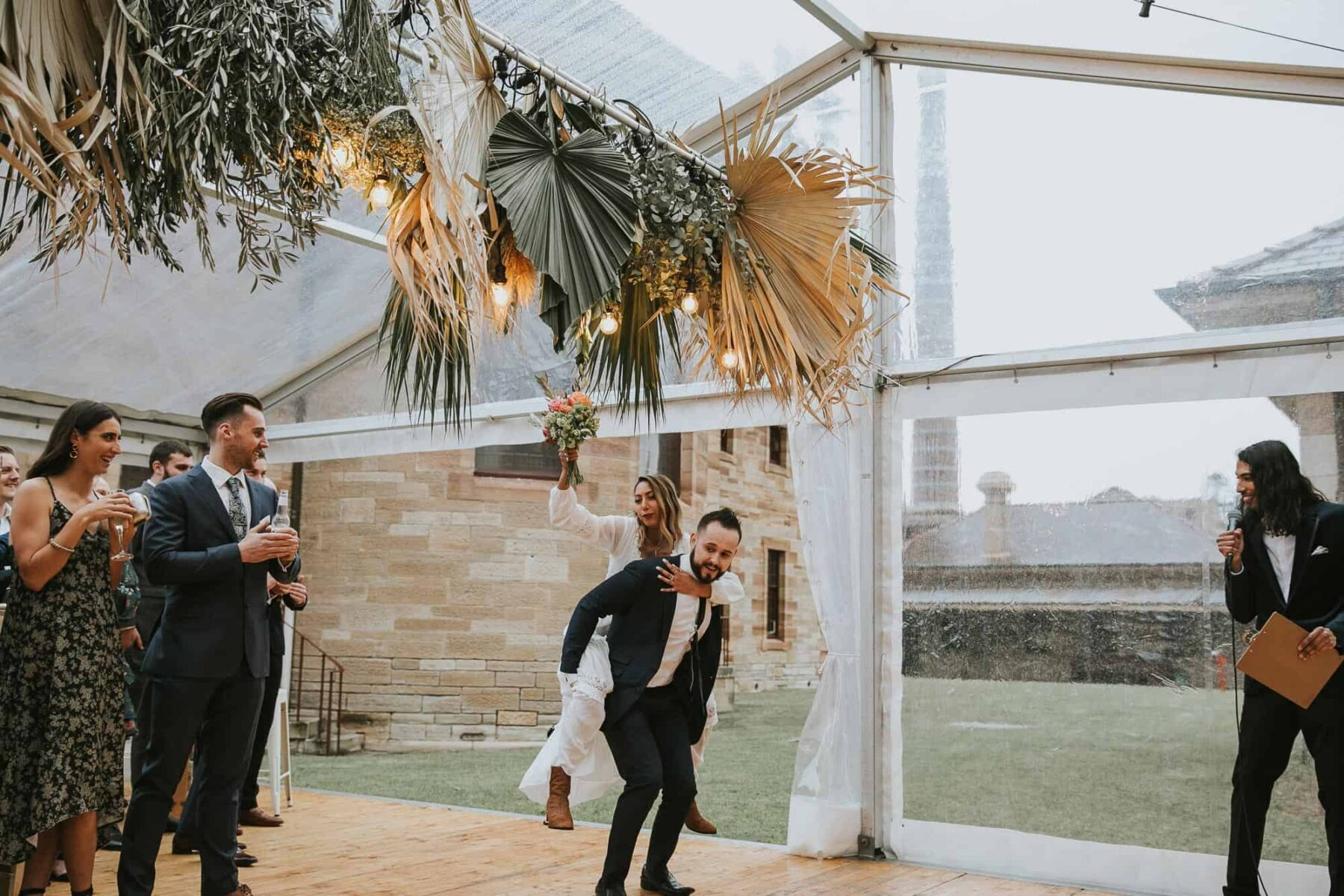 glasshouse marquee wedding sydney