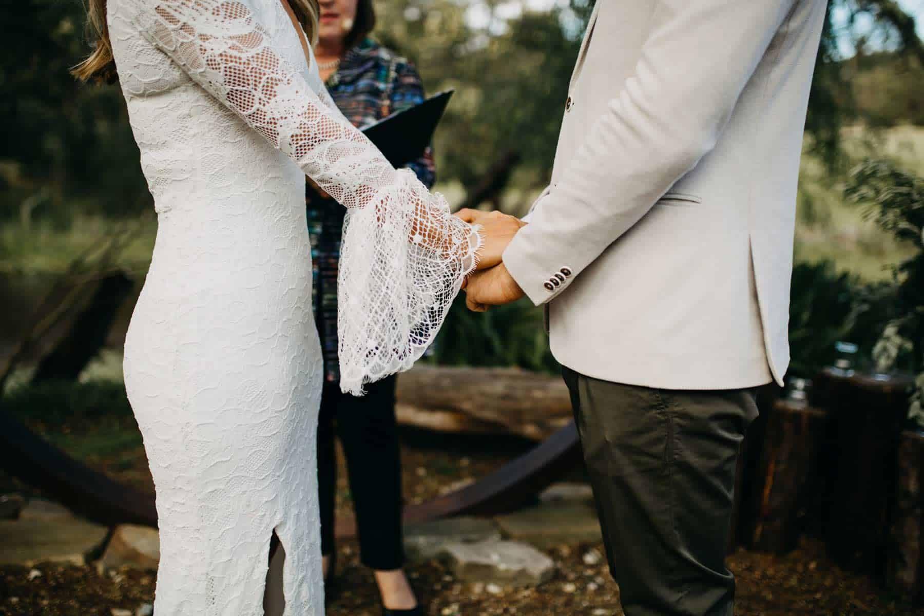 bell sleeve wedding dress by Grace Loves Lace