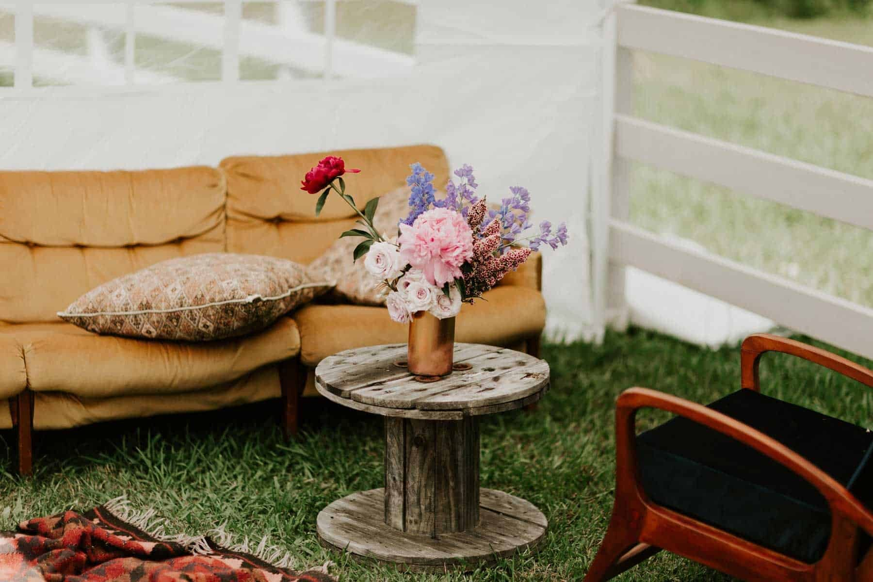 backyard marquee wedding Hunter Valley