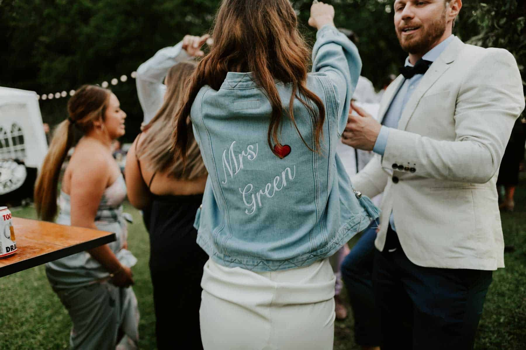 customised bridal denim jacket