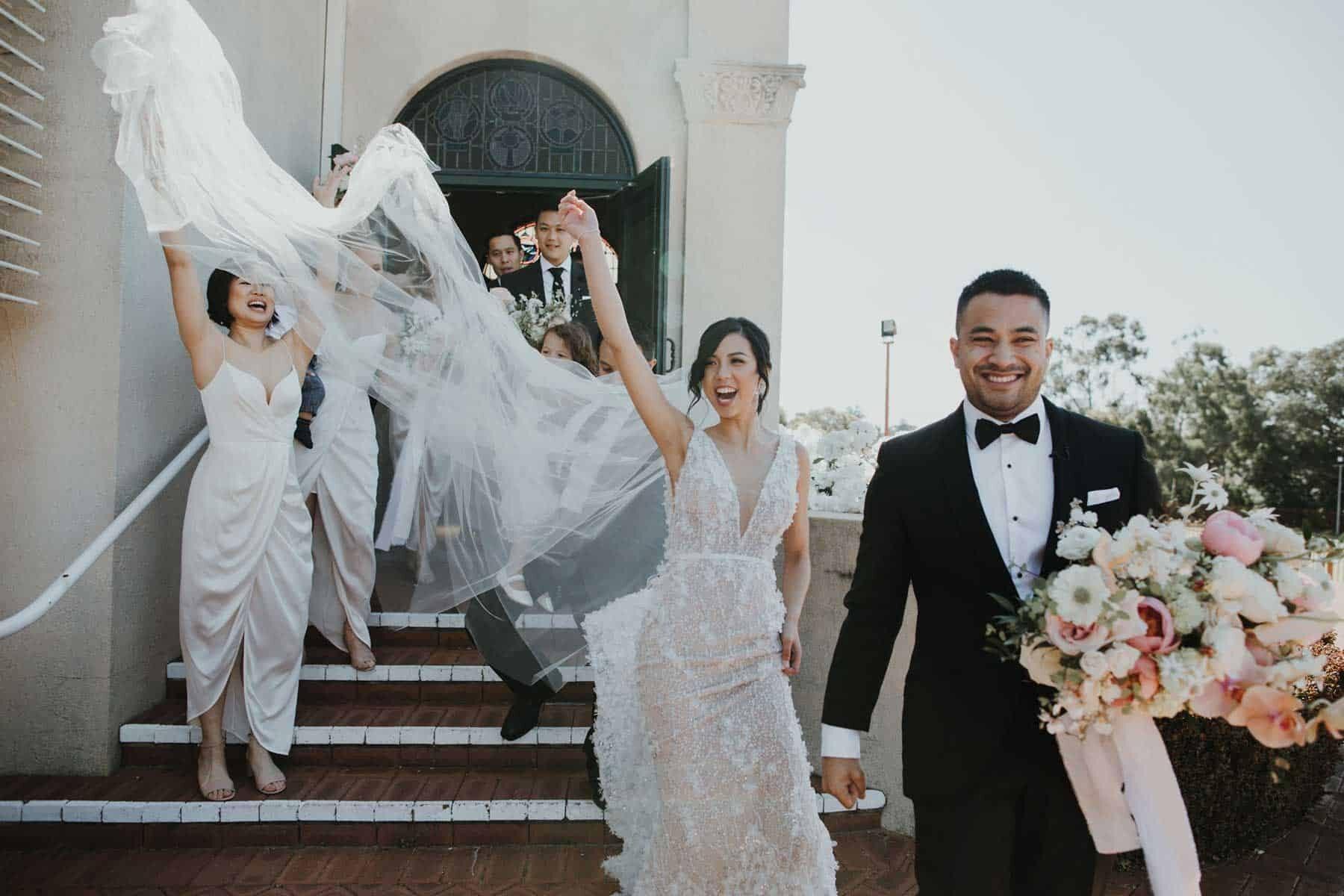 fun and modern wedding at South Perth Yacht Club