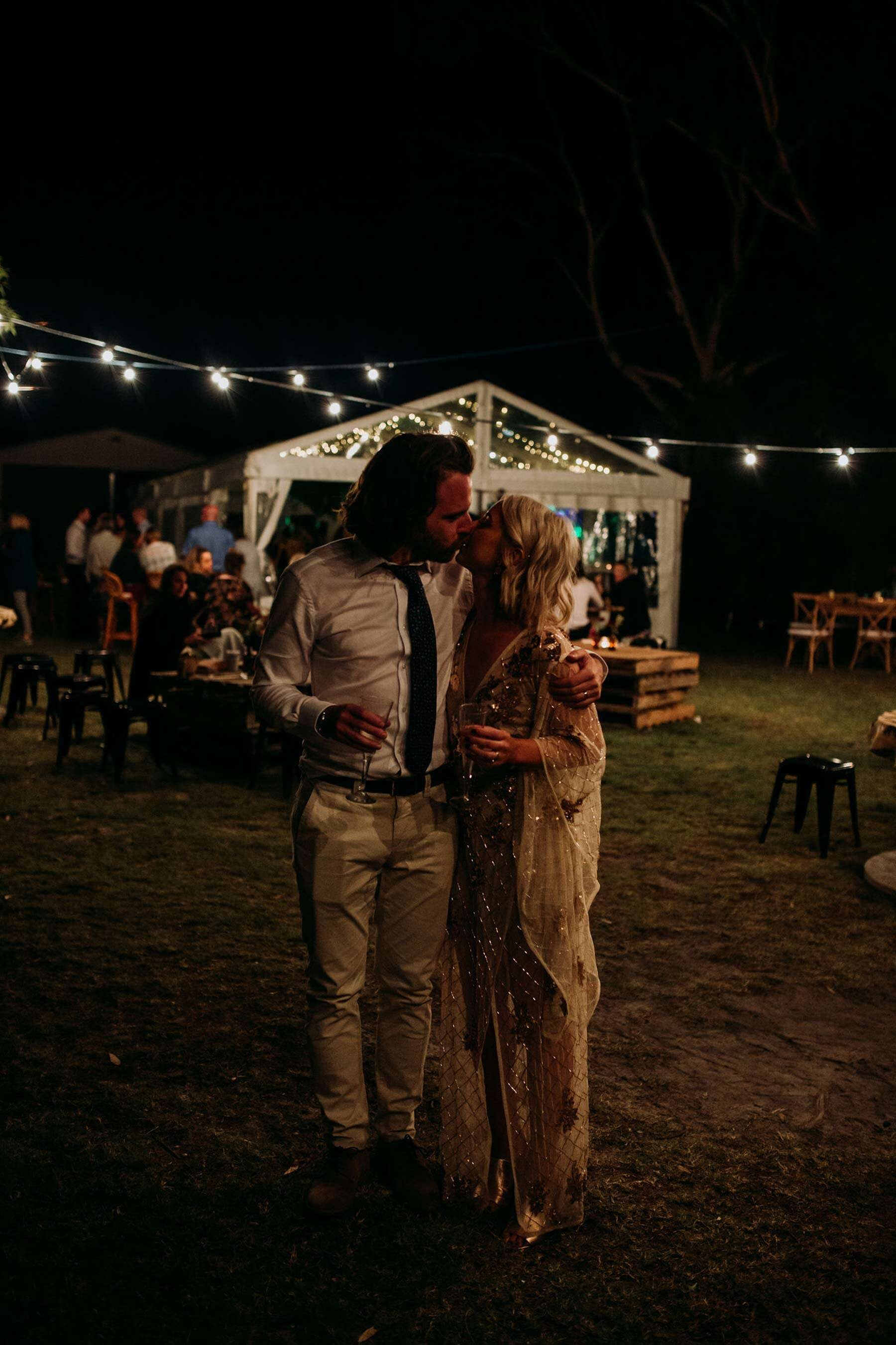 DIY backyard wedding in Geelong with loads of food trucks