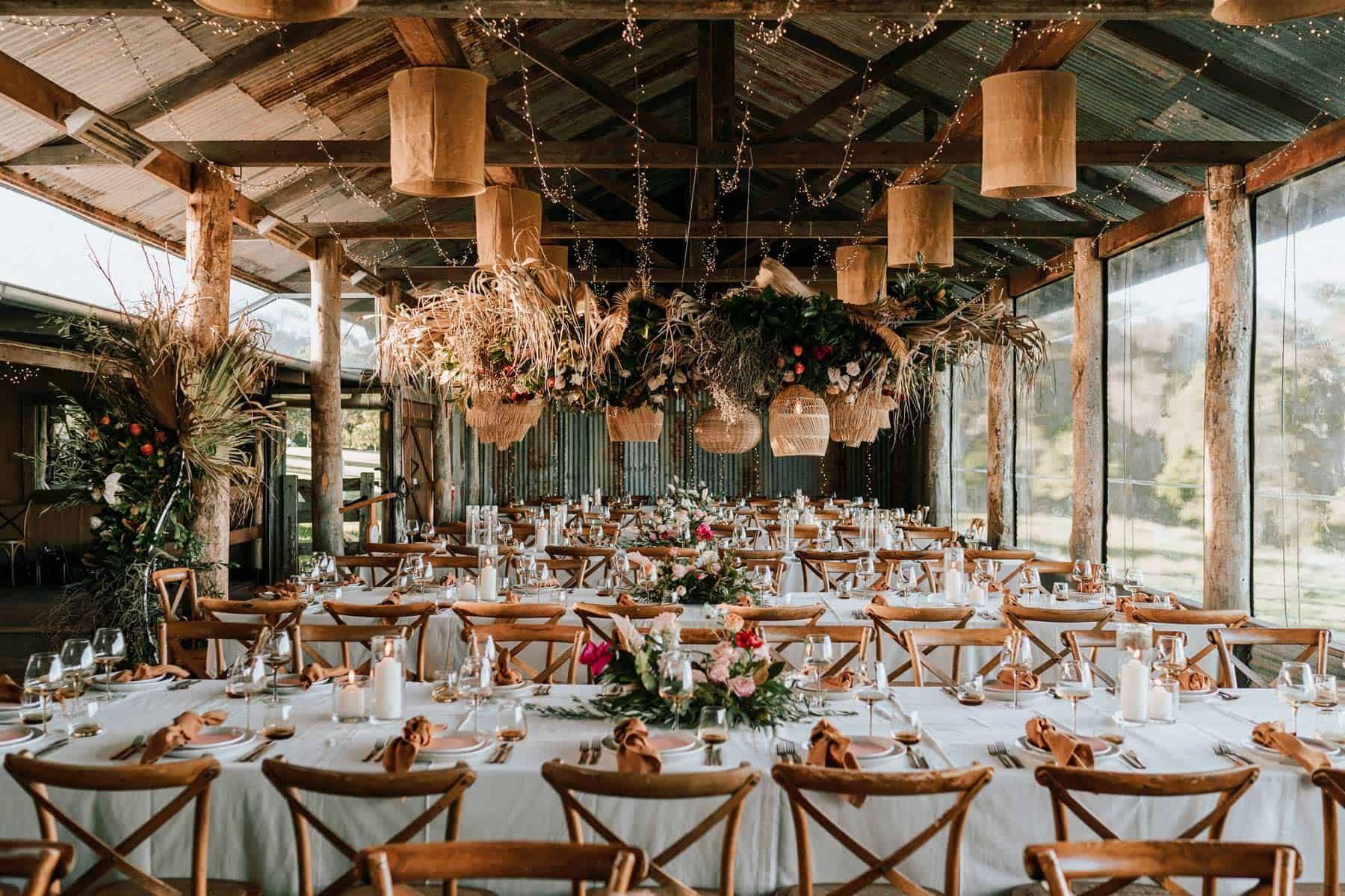 modern-meets-boho barn wedding at Yandina Station, Sunshine Coast