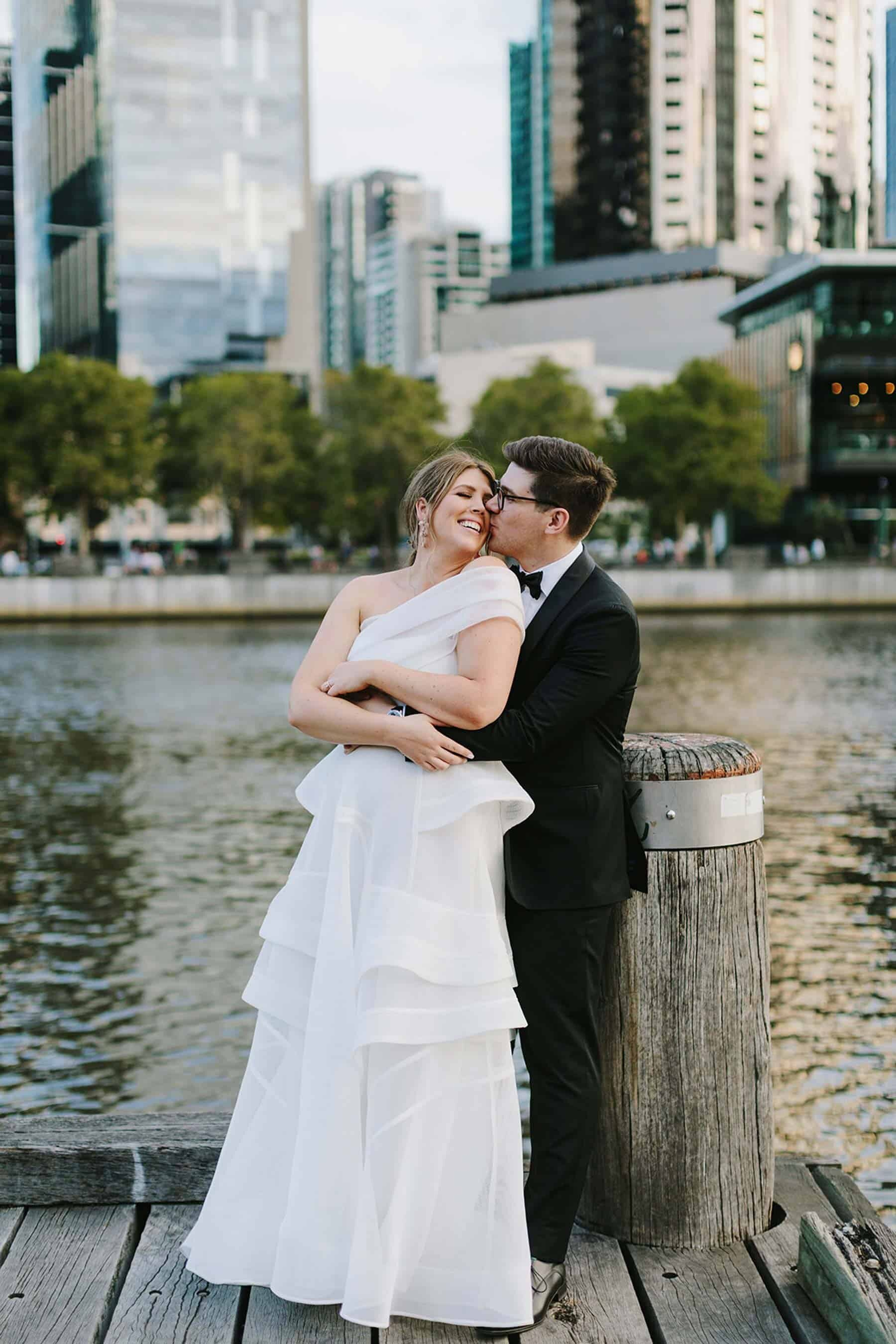 structural wedding dress by Georgia Young Couture