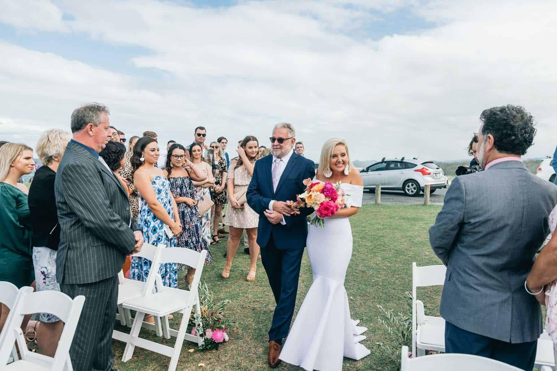 bright, colourful and modern wedding on the Tweed Coast, Australia