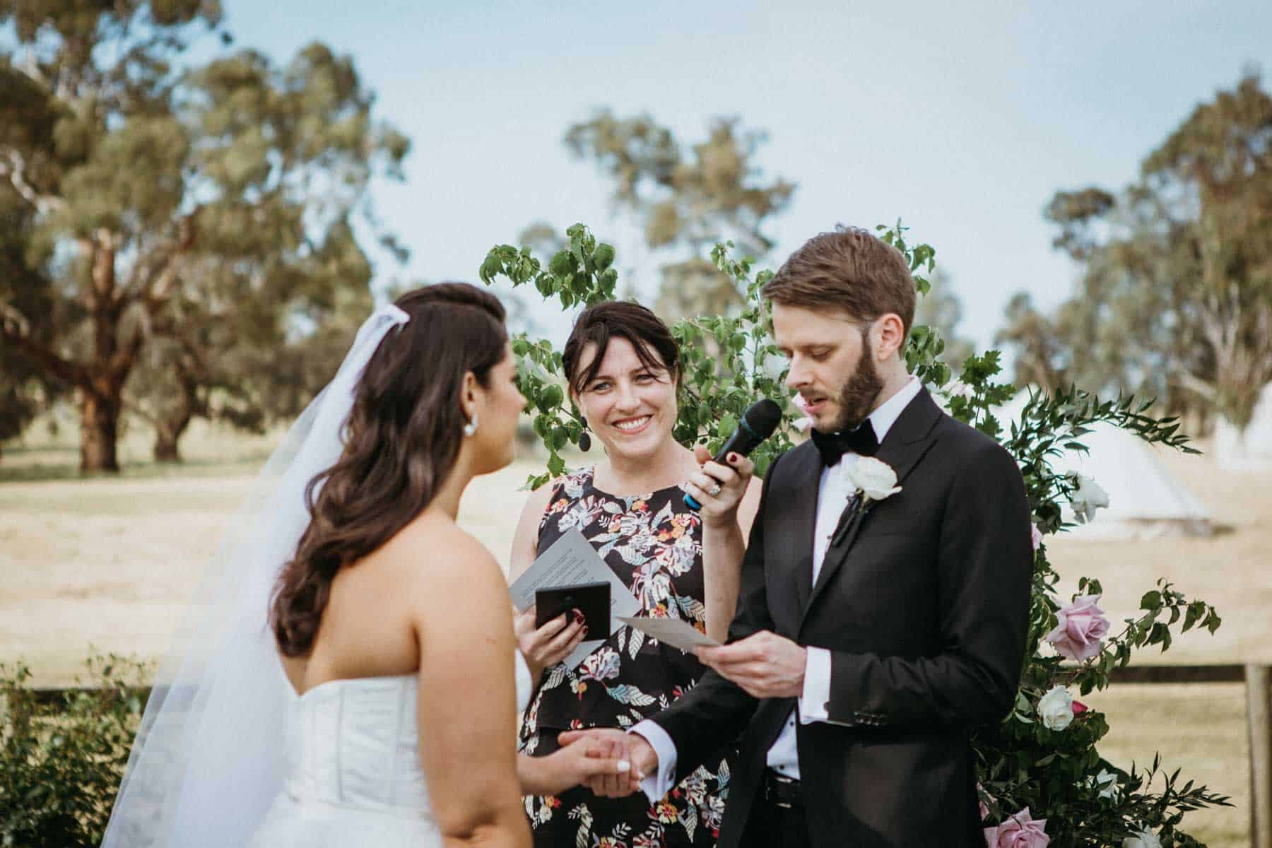fun and modern marriage celebrant in Melbourne