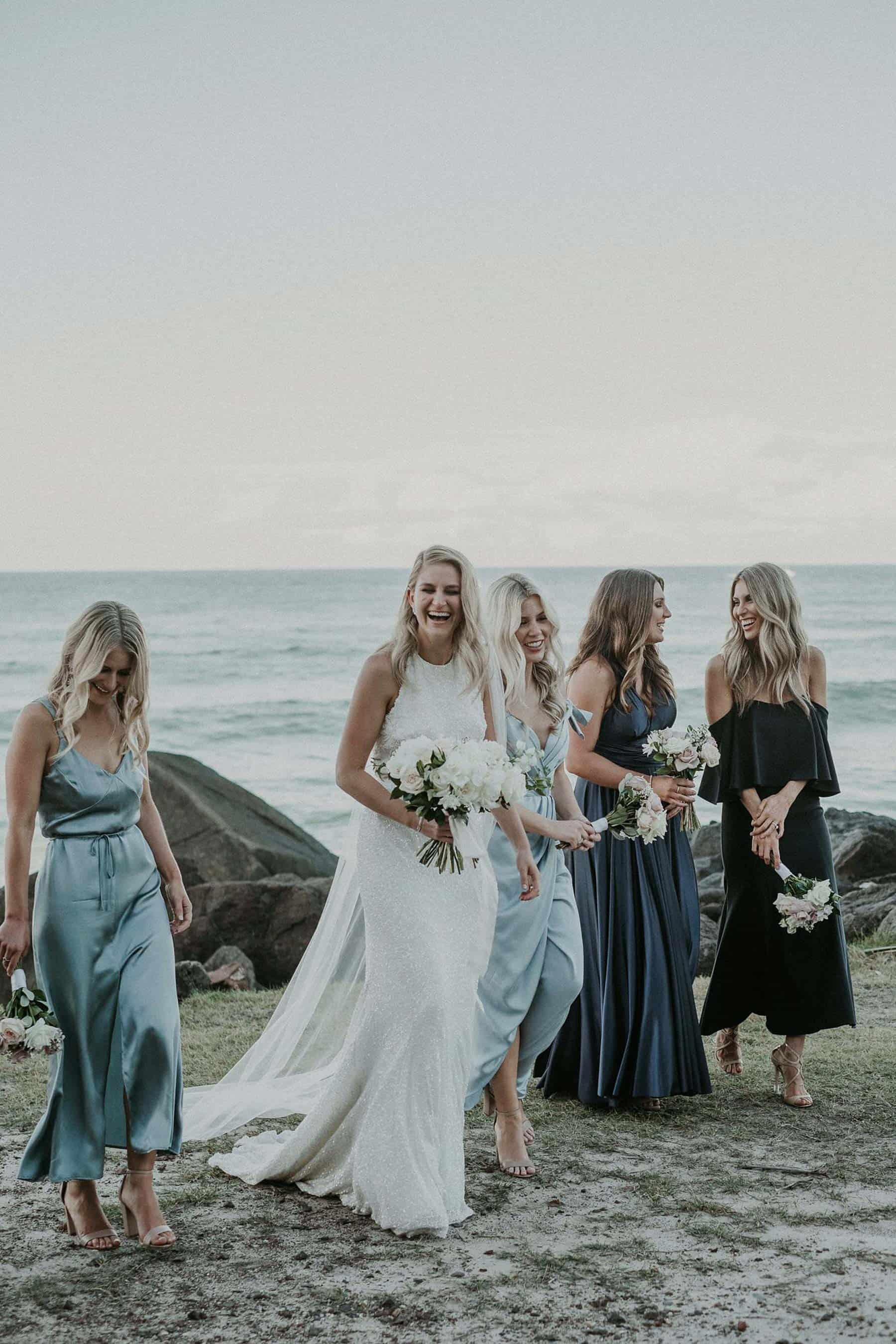 bridesmaid dress colour trend - ocean blues