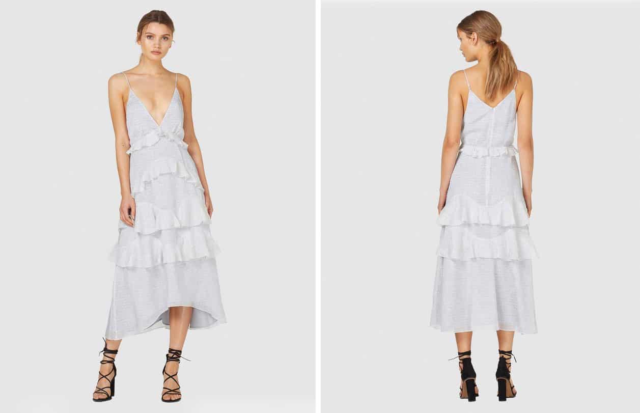 grey maxi bridesmaid dress