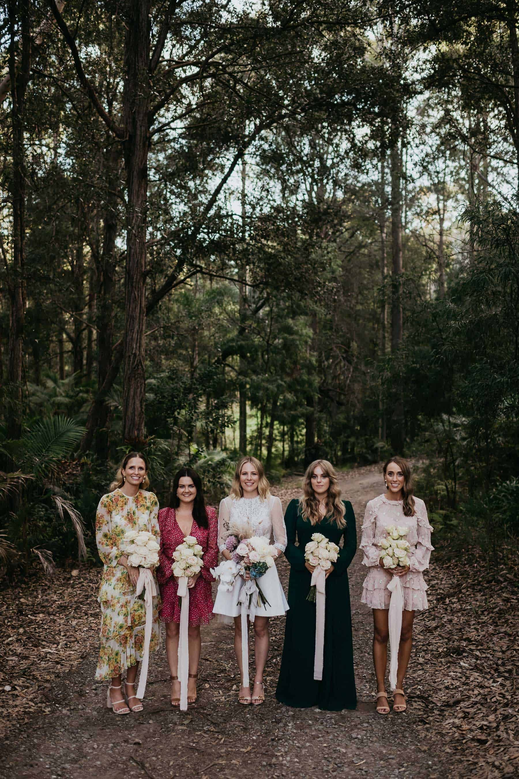 mismatched boho bridesmaid dresses