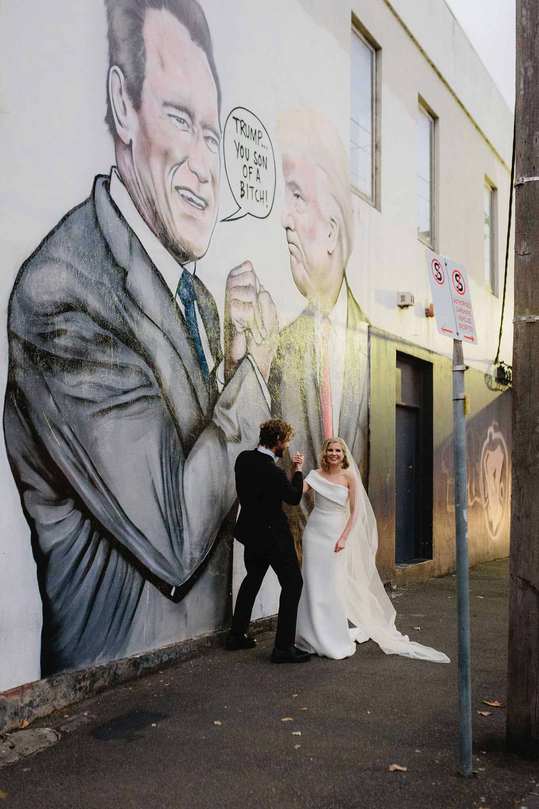 melbourne street art wedding photography