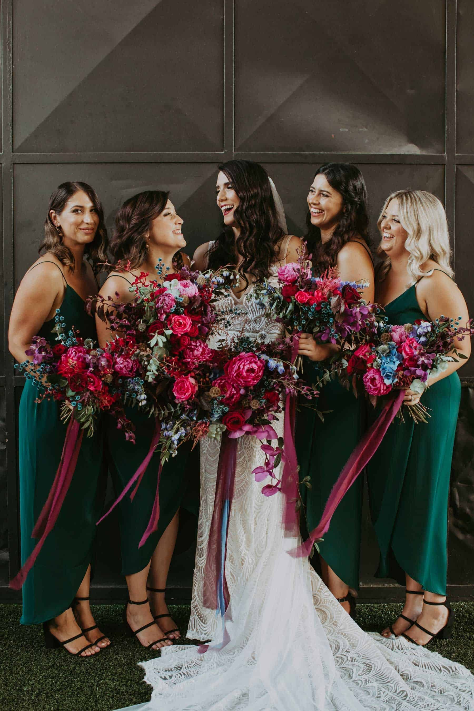 emerald green bridesmaid dresses