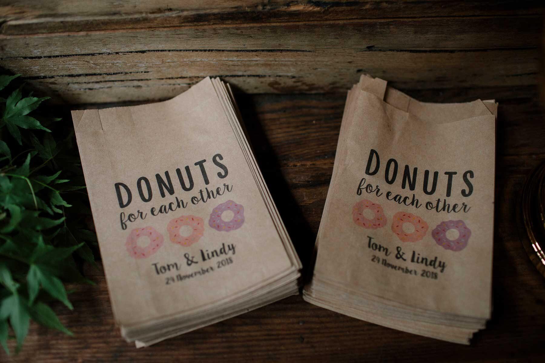 rustic donut wall