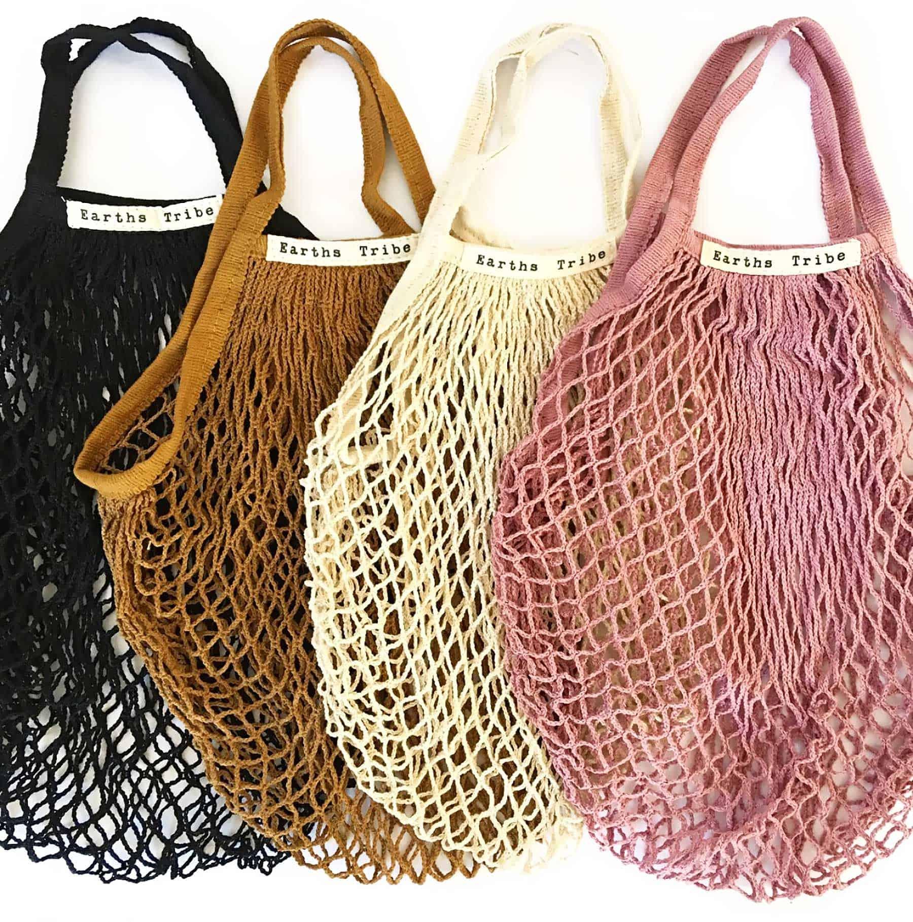 string net reusable shopping tote bag