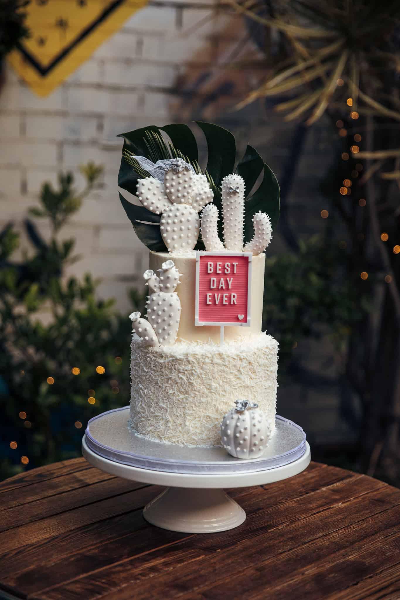 best wedding cakes of 2019 - cactus cake