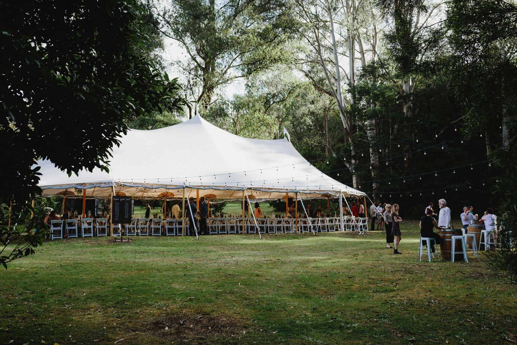 Sperry tent wedding in Gippsland
