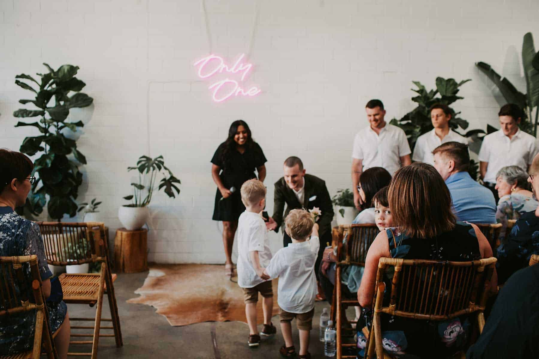 industrial warehouse wedding venue in Perth - Feld & Co