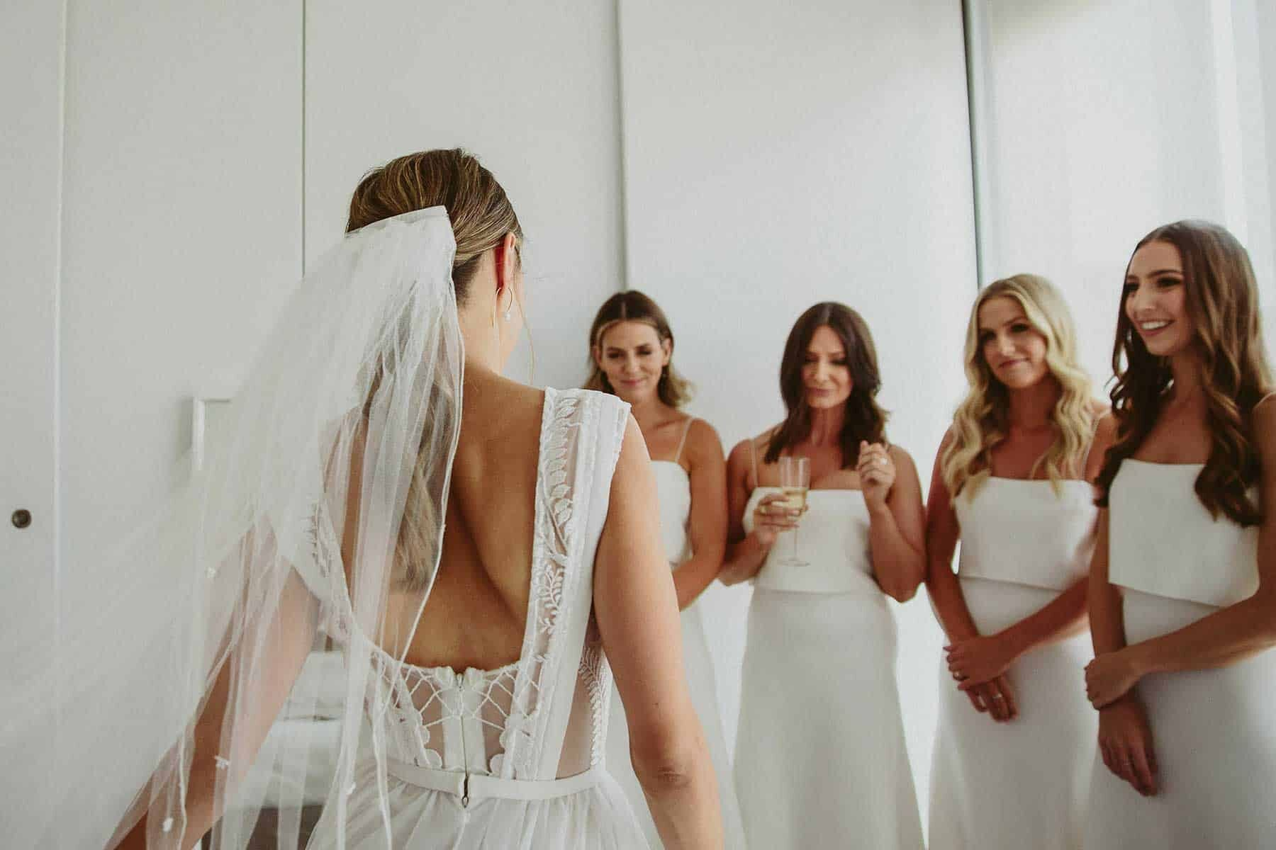 modern lace wedding dress by Georgia Young