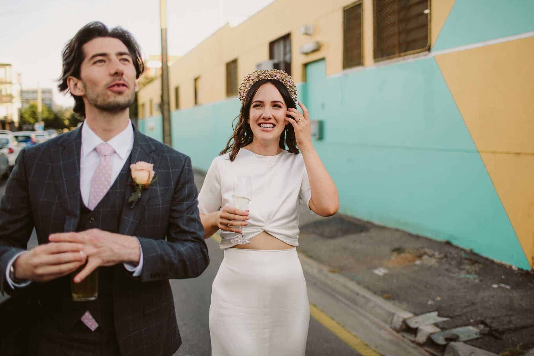 Cassie and Josh's Urban Adelaide Wedding at Oddio