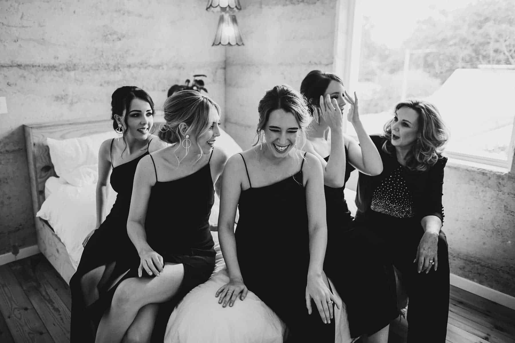 modern black bridesmaid dresses
