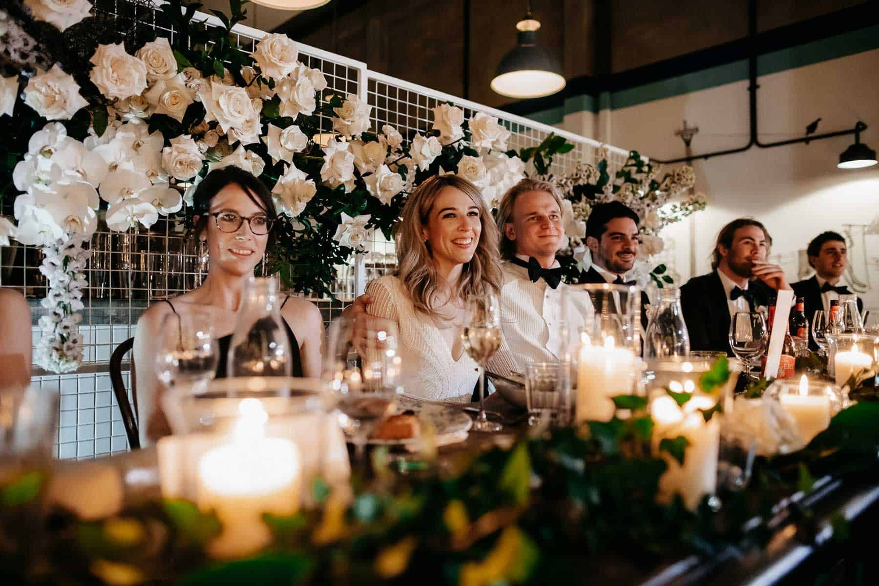 modern and elegant warehouse wedding at Gordon St Garage, Perth. Photography by Adam Levi Browne