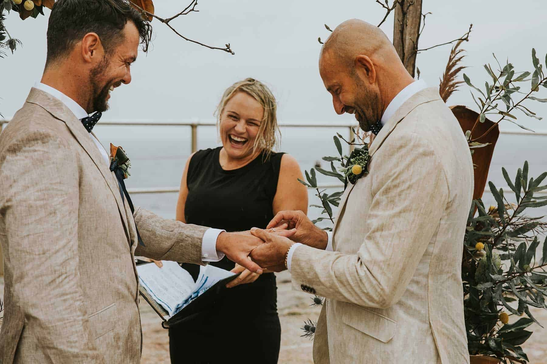 rainy North Bondi beach wedding in Sydney