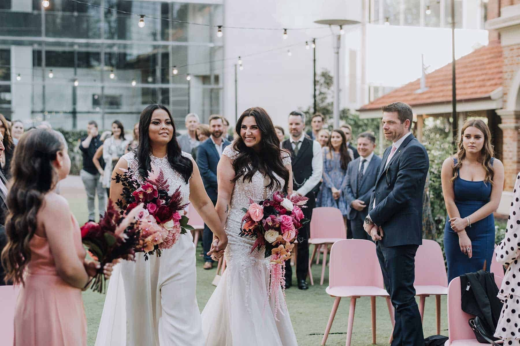 Epic pink wedding at Lamont's Bishops house in Perth WA