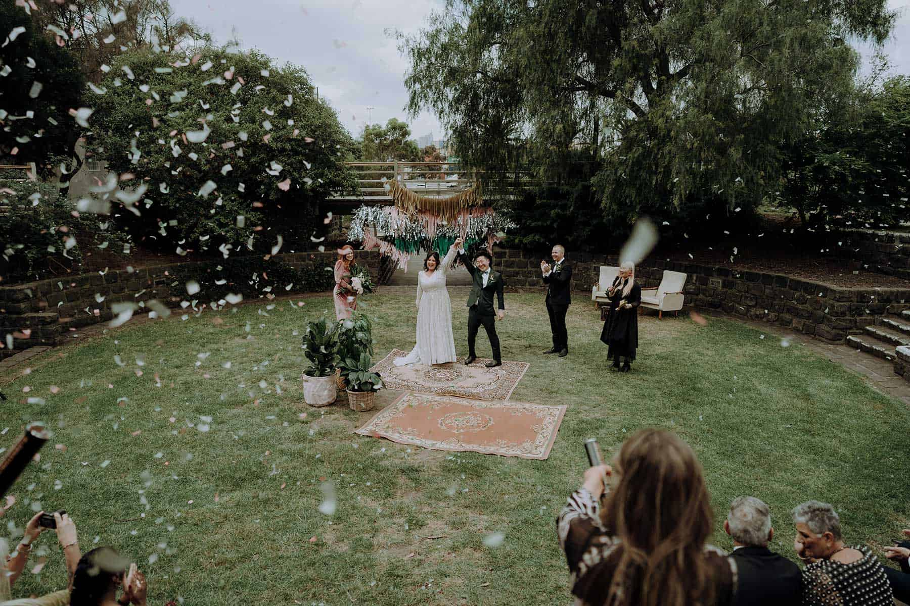 Footscray amphitheatre wedding in Melbourne