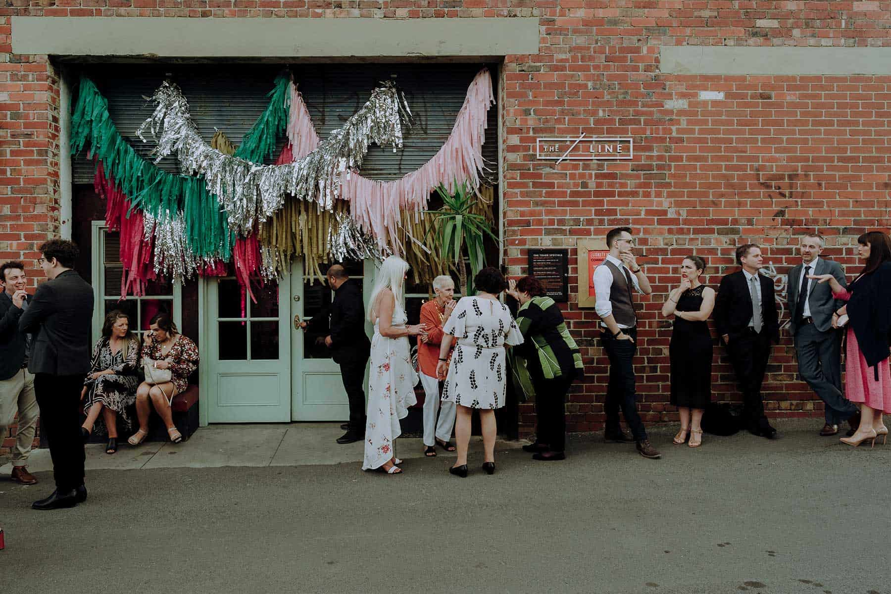 colourful warehouse wedding at The Line in Footscray