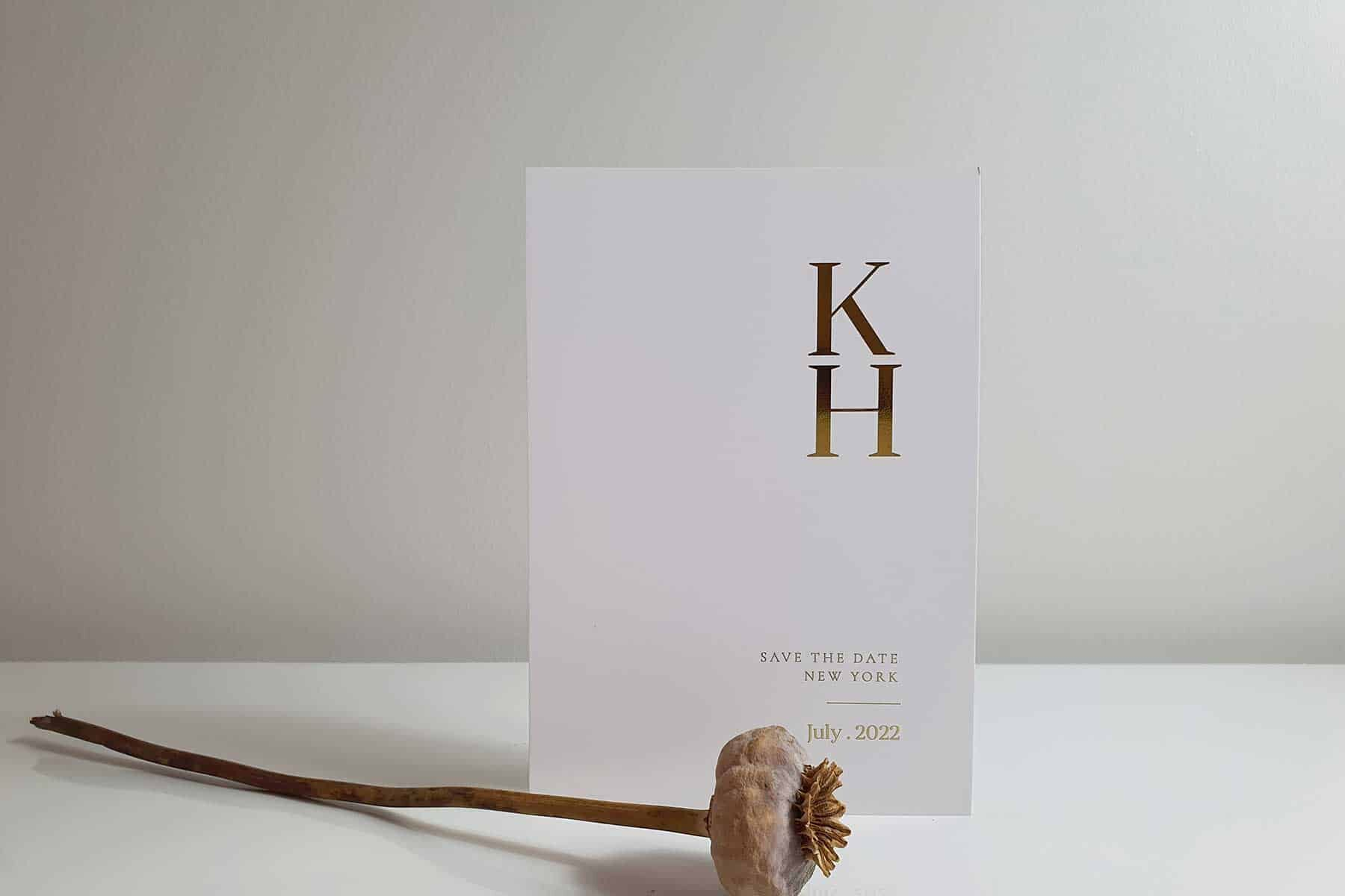 modern and minimal typographic wedding invitations